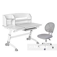 Комплект подростковая парта Amare II Grey + подростковое кресло для дома LST1 Grey FunDesk