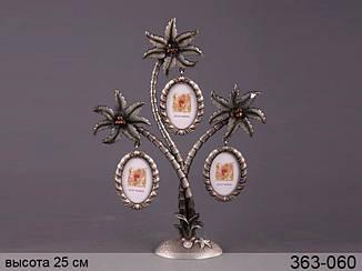 Фоторамка Lefard Пальма на 3 фотграфии 25 см , 363-060
