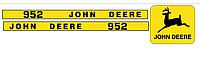 Наклейки на комбайн John Deere 952