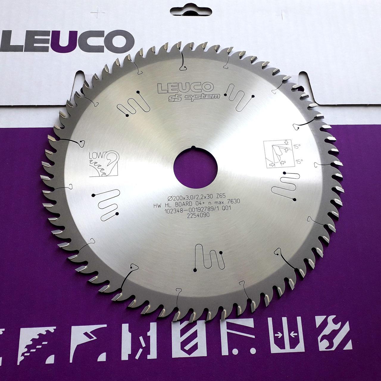 200х3,0х2,2х30 z=65 Дискова пила Leuco (спеціальна геометрія зубів G5 для ідеально чистого різу)
