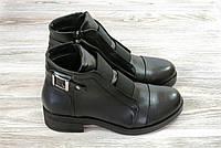 Кожаные женские ботинки на низком каблуке Lonza, фото 1