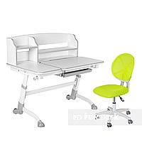 Комплект подростковая парта Amare II Grey + подростковое кресло для дома LST1 Green FunDesk