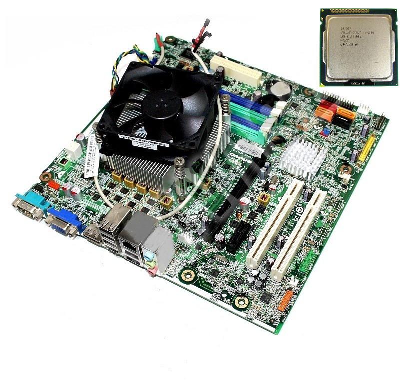 Материнская плата комплект бу Lenovo IS6XM / LGA1155 ntel® Xeon® E3-1220(аналог core i5 2400) / кулер