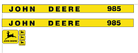 Наклейки на комбайн John Deere 985