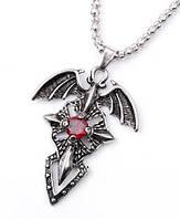 """Кулон """"Сердце дракона"""" подвеска крест с крыльями , фото 1"""