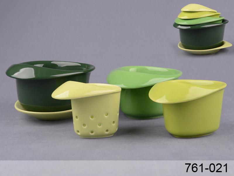 Набор чайный Lefard Для завтрака с фильтром на подставке 5 предметов (180 мл, 250 мл и 350 мл), 761-021