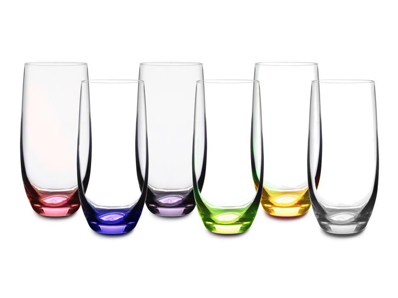 Набор стаканов для воды/сока Crystalex Rainbow club 350 мл из 6 шт, 024-105