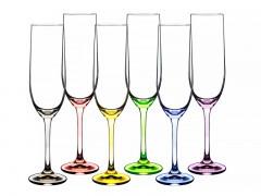 Набор фужеров для шампанского Crystalex Rainbow 190 мл из 6 шт, 024-106