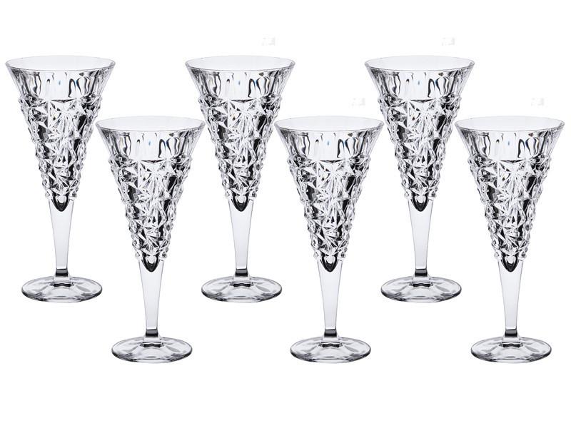 Набор фужеров для вина Crystalex Ледник 250 мл из 6 шт., 024-114
