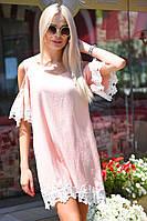 Платье свободного кроя с кружевом, фото 1
