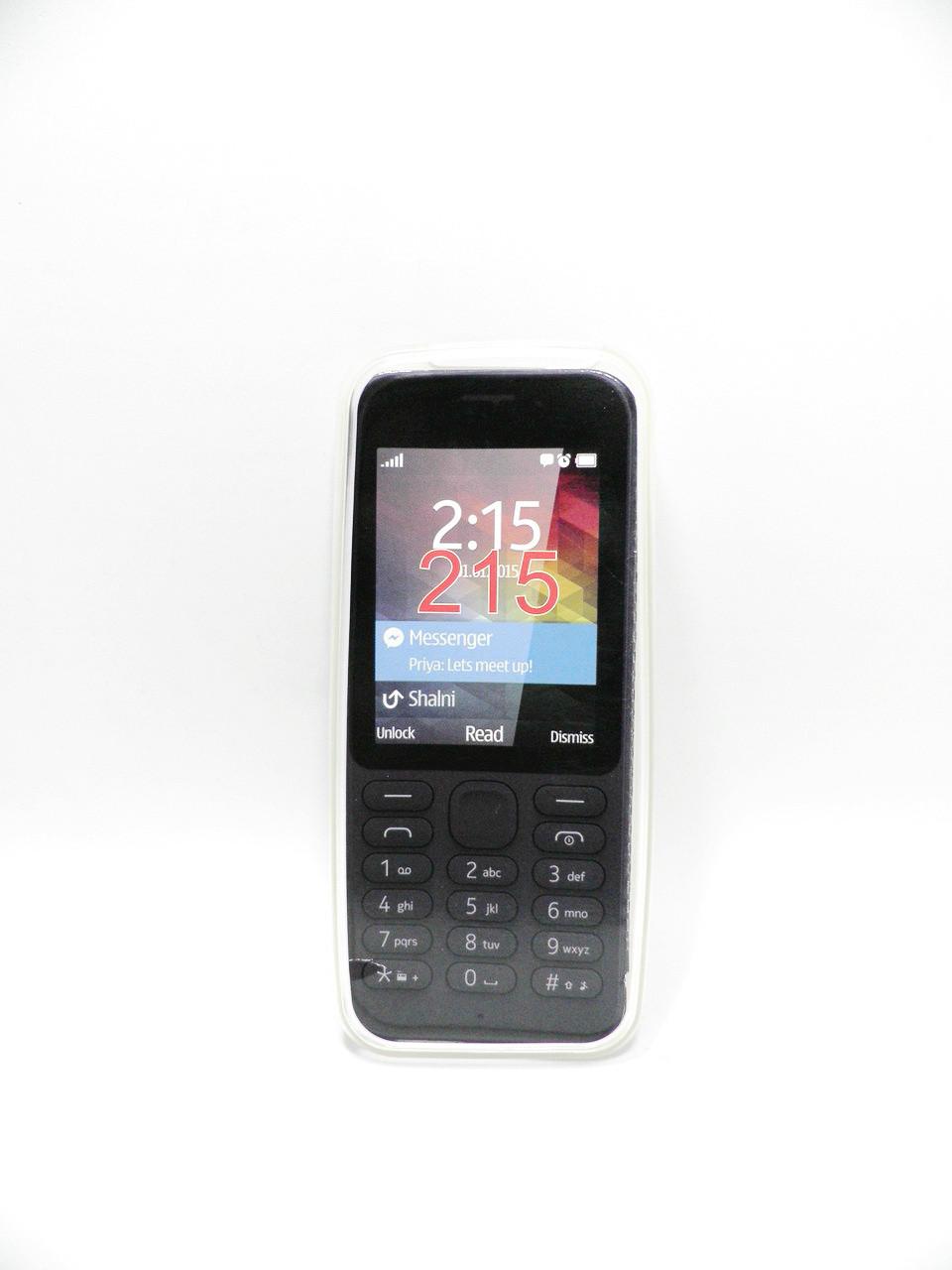 Накладка Nokia 215 ,,Силикон,, Белая
