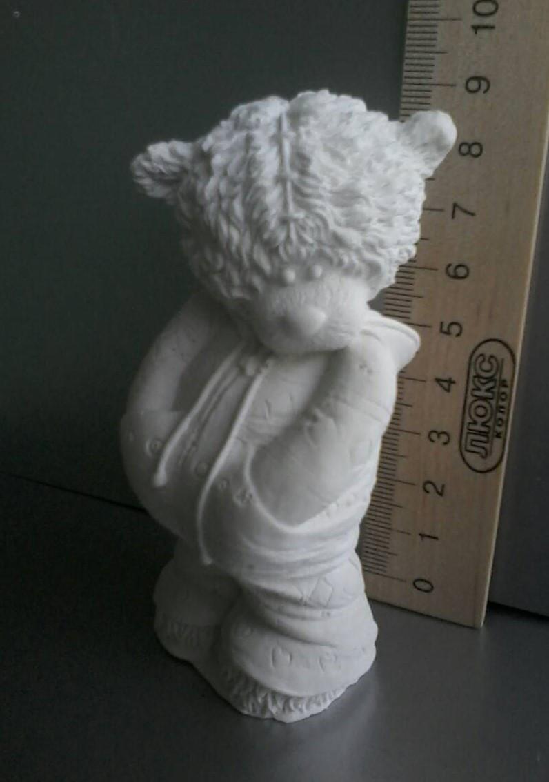 Гипсовая фигурка для раскрашивания статуэтка мишка в пайте