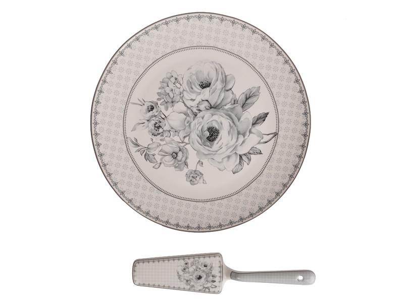 Блюдо для торта с лопаткой Lefard Французский мотив 27 см, 924-272