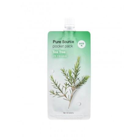 Ночная маска с экстрактом чайного дерева Missha Pure Source Pocket Pack Tea Tree - 10мл