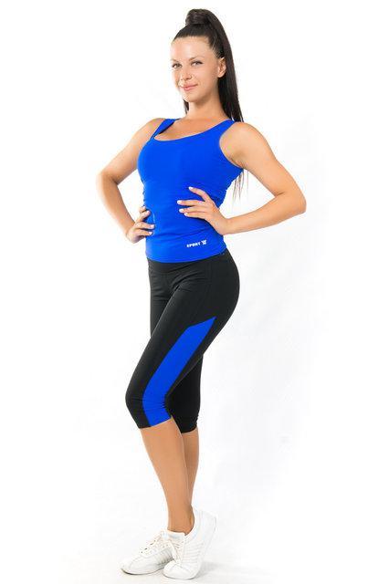Отличный комплект майка и бриджи для фитнеса (40,42,44,46,48,50) женская одежда для спорта ЭЛЕКТРИК