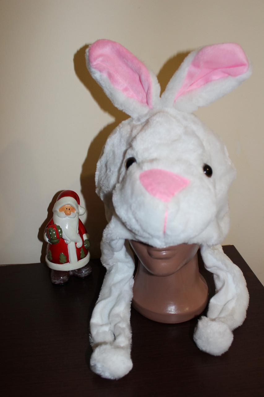 Меховая маска - шапка Зайца