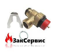 Предохранительный клапан на газовый котел Ferroli Domicompact, DomIproject39818270 36902760