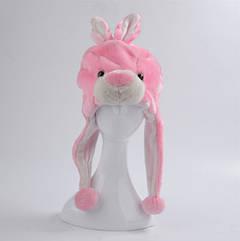 Шапка-маска Заяц розовый