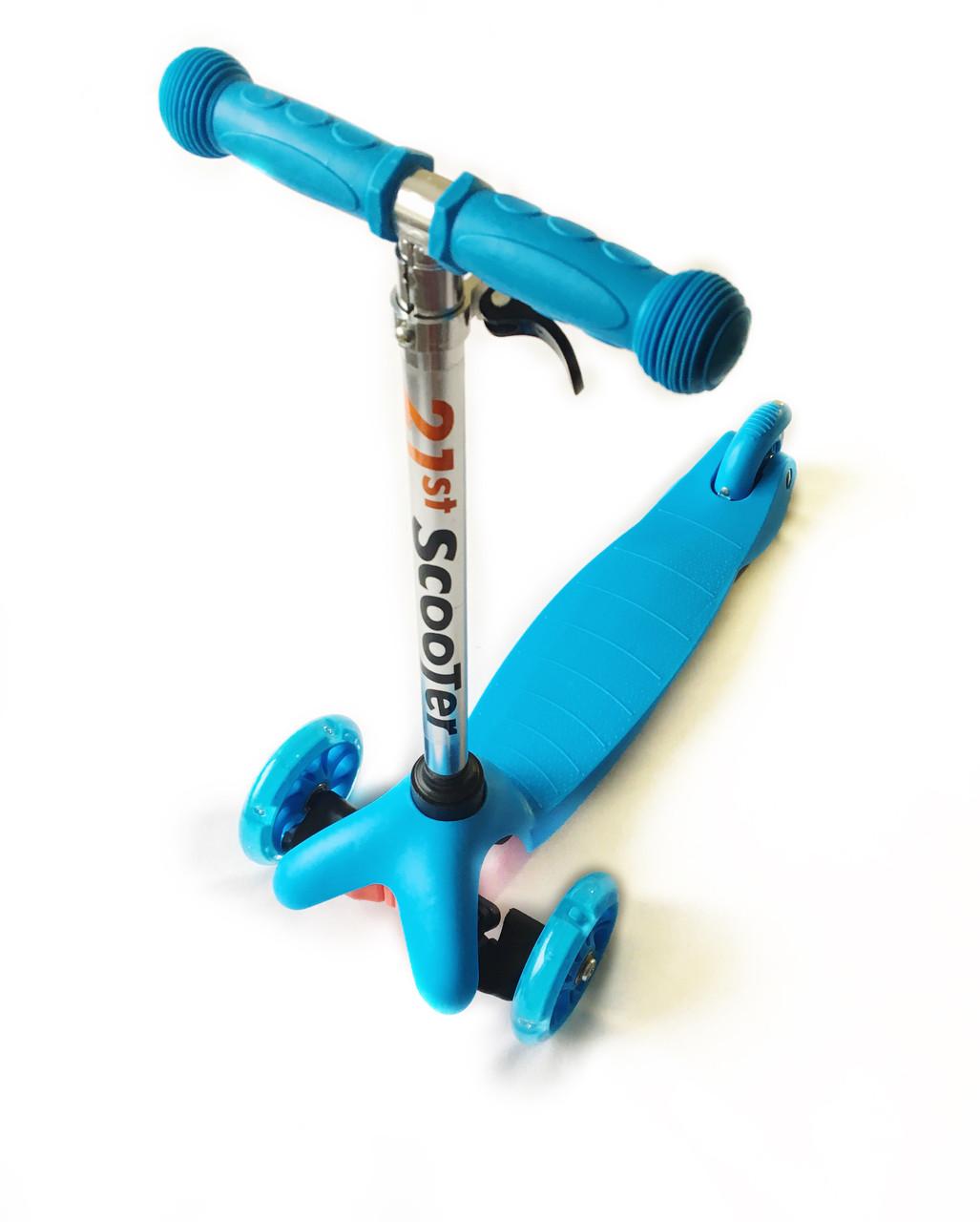 Трехколесный самокат 21Scooter - Mini - Синий для детей