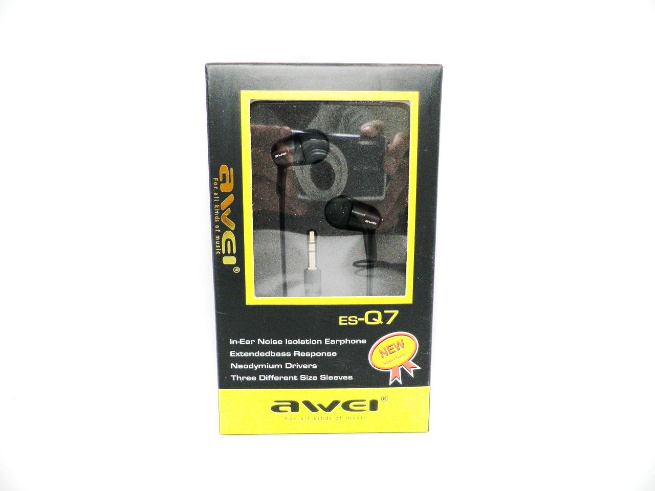 Наушники Awei ES-Q8 Black