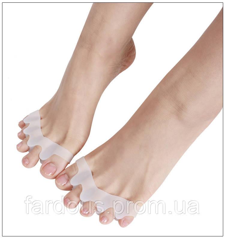 """Силиконовый разделитель для пальцев ног. Лечение """"косточки""""."""