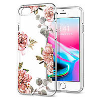 Чехол Spigen для iPhone SE 2020/8/7 Liquid Crystal Aquarelle, Rose (054CS22619)