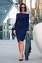 Вязаное платье лодочка размеры 42-46, фото 3