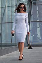 Вязаное платье лодочка размеры 42-46, фото 2