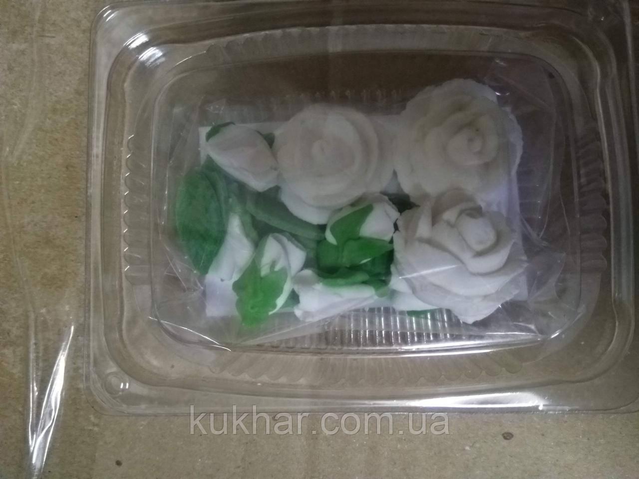 """Набір """"Букет троянд"""" БІЛІ"""