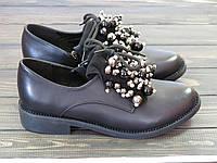 Модные женские туфли со шнурками Fabio Monelli