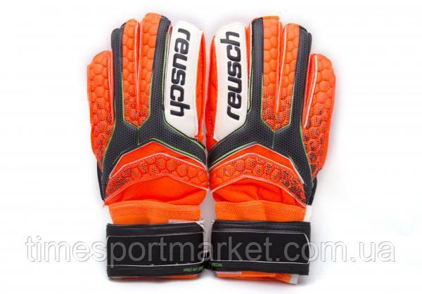 Перчатки вратарские Reusch про М-1 оранжевый (реплика), фото 2