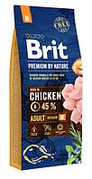 Сухой корм Brit Premium Adult M Бит для собак средних пород 15 кг