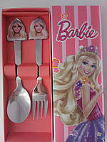 Детский набор ложка вилка Барби