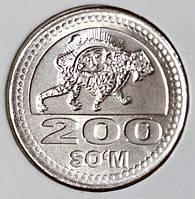 Монета Узбекистана 200 сум 2018 г.