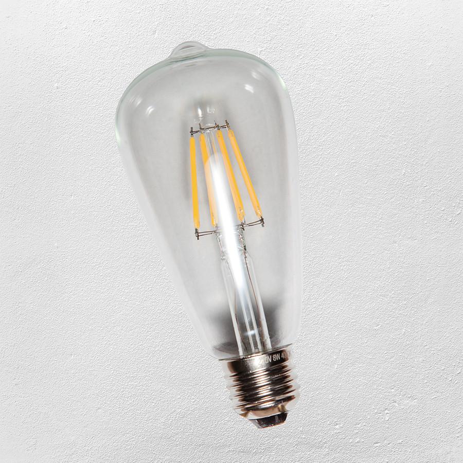 COW лампочка Эдисона ST-64 LED8W 2700K E27 (RC) прозрачная