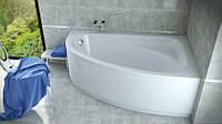 Ванна Besco CORNEA 140х80 права з панеллю, ніжкам і сифоном