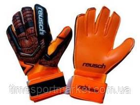 Перчатки вратарские Reusch про М-1 оранжево-черный (реплика)