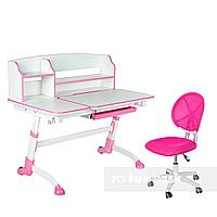 Комплект подростковая парта Amare II Pink + подростковое кресло для дома LST1 Pink FunDesk