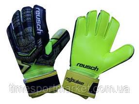 Перчатки вратарские Reusch про М-1 салатово-черный (реплика)
