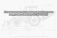 Каталог запчастей гидравлической системы погрузчика Амкодор-91 (ДЗ-133ЭЦ)