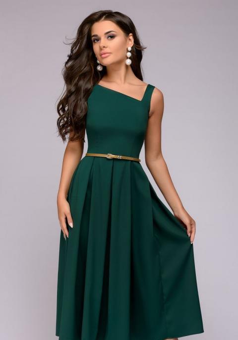 Расклешенное платье с оригинальным декольте  PR11, фото 1