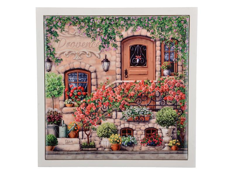 """Подставка-картина """"Home"""" 15х15 см, керамика+дерево, Lefard, 072-015"""