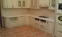 Кухонная столешница с радиусом из искусственного акрилового камня Samsung Staron