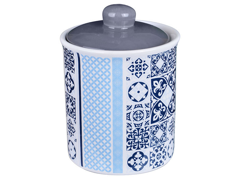 "Банка для хранения ""Синяя мозаика"" 14 см, Lefard, 358-797"
