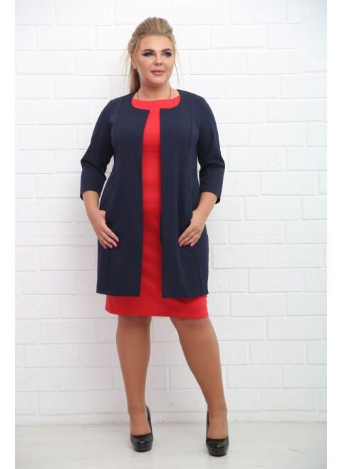 32a8282cc61 Женский деловой костюм Артуа красный + черный   размер 48-72   большие  размеры