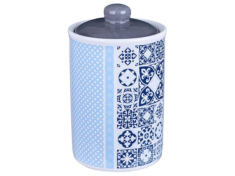 "Банка для хранения ""Синяя мозаика"" 16 см, Lefard, 358-799"