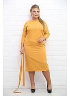 38c41c73a77 Женское платье на каждый день Афины   цвет горчица   размер 48-72