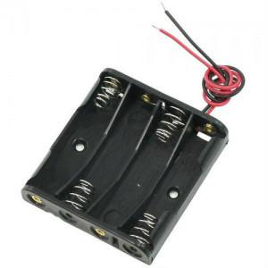 Отсек для 4 батарей 18650 с проводами