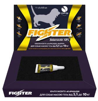 Капли Файтер 12% 0,5мл для собак 5,1-10кг