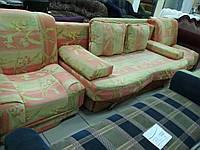 Диван-еврокнижка и два кресла б/у, набор мягкой мебели б/у